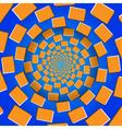 Rotating Blocks Optical Seamless Pattern vector image
