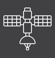 satellite line icon transport and space vehicle vector image