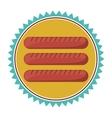 sausage food icon vector image vector image