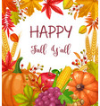 seasonal fall banner vector image