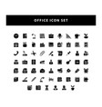 set office icon with glyph style design vector image vector image