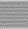Striped and spiral seamless pattern vector image vector image