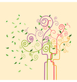 Swirl trendy spring tree vector image