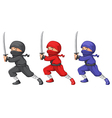 Three ninjas vector image