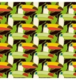 toucans bird colorful seamless pattern vector image vector image