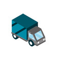 truck deivery online shopping isometric icon vector image vector image