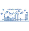 usa kentucky louisville winter city skyline vector image vector image