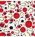 various sport balls seamless color pattern eps10 vector image
