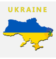 War in Ukraine concept isolated on white vector image vector image