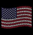 waving american flag stylization of graduation cap vector image vector image