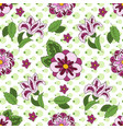 white seamless pattern with spring flowers cover vector image vector image