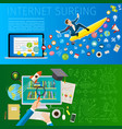 fast speed mobile internet surfing vector image