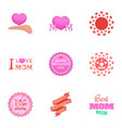 happy mother day icons set cartoon style vector image