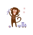 Monkey Playing With Toys vector image