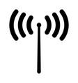 radio signal the black color icon vector image