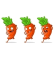 Cartoon orange funny carrot set vector image