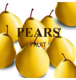 fresh pears realistic vector image