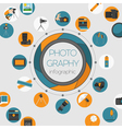 Photography infographics set with photo camera vector image