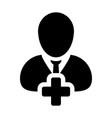 add new user icon male person profile avatar plus vector image