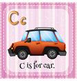 Alphabet C vector image vector image