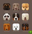 animal faces for app icons-dogs set 6 vector image vector image