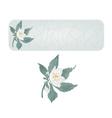 Banner spring flower jasmine cracks vector image vector image