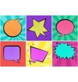 bright colorful retro comic speech bubbles vector image vector image