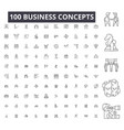 business concepts editable line icons 100 vector image vector image