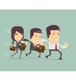 business people run a race vector image