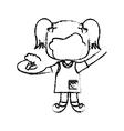 cartoon kid icon vector image vector image