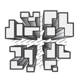 city top view black and white vector image vector image