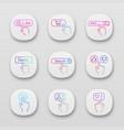 click app icons set vector image