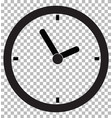 clock icon transparent background clock symbol vector image vector image