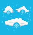 clouds and snow design vector image