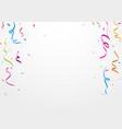 colorful ribbon and confetti vector image vector image