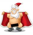 Crazy Santa - Cartoon vector image vector image