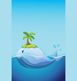 cute whale in ocean concept vector image vector image