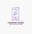 device mobile phone smartphone telephone purple vector image