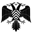 doubleheaded heraldic eagle vector image vector image