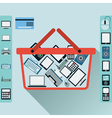 Electronic shop vector image