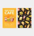 fast food card template menu or advertising vector image vector image