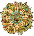 Flower Ornament Doodle vector image vector image