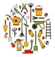 Garden tools icons vector image vector image