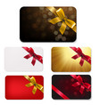 gift card with bows big set vector image vector image