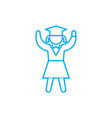 girl student linear icon concept girl student vector image vector image