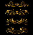 golden floral elements vector image vector image