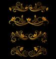 golden floral elements vector image