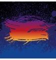 Grunge colorful brush stroke on dark blue paint vector image vector image