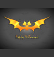 halloween bats greetings card vector image