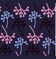 hand drawn floral pattern delicate flowers vector image vector image